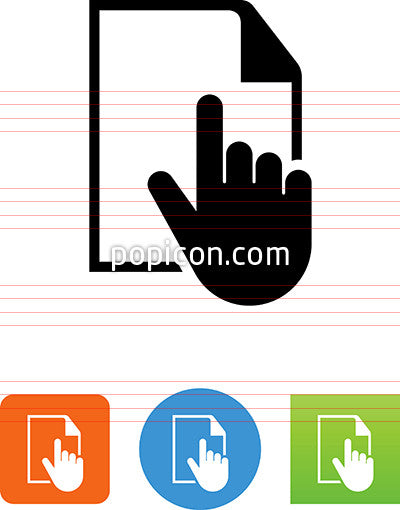 Hand Selecting Document Icon