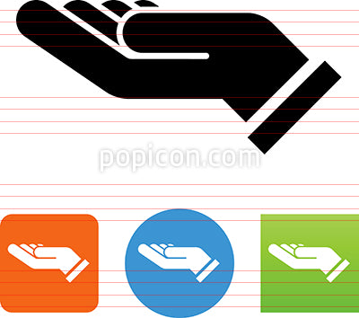 Hand Support Gesture Icon
