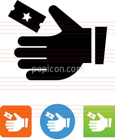 Hand Taking Ticket Icon