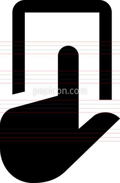 Hand Tap Smartphone Vector Icon