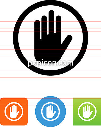 Hand Warning Icon
