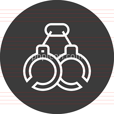 Handcuffs Arrest Busted Outline Icon