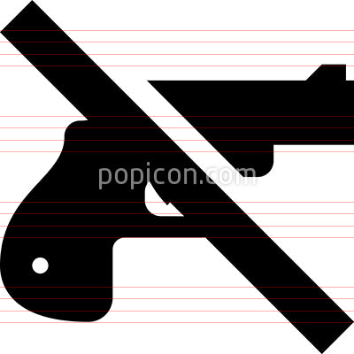 Handgun Firearm Ban Vector Icon