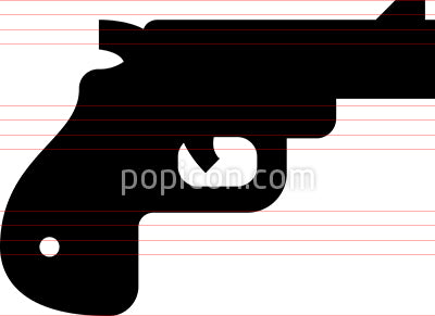 Handgun Firearm Vector Icon