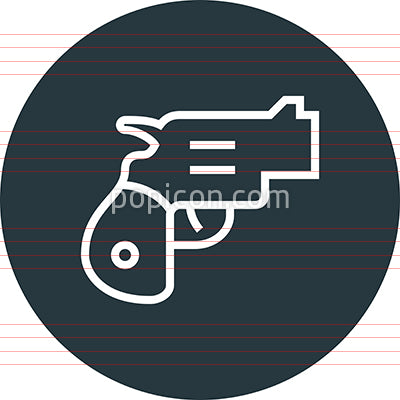 Handgun Pistol Firearm Outline Icon