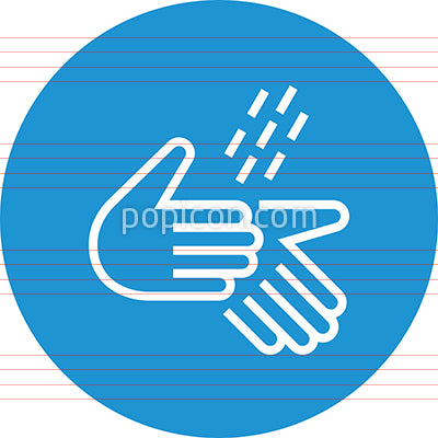 Hands Rinse With Water Outline Icon