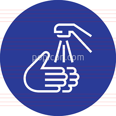 Hands Washing Sink Faucet Outline Icon