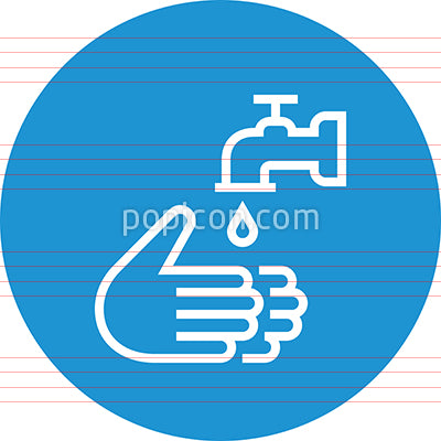 Hands Washing With Faucet Outline Icon