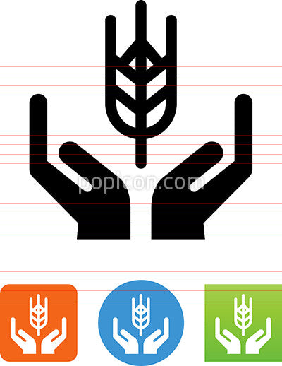 Hands Holding Grain Icon