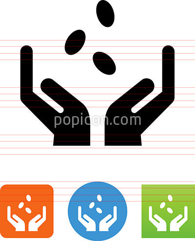 Hands Holding Seeds Icon
