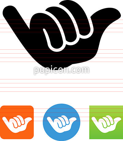 Hang Loose Icon Popicon
