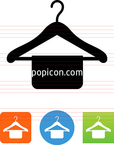 Hanger With Clothes Icon