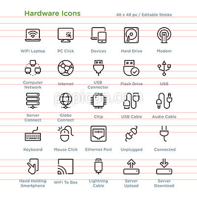 Hardware Icons - Outline