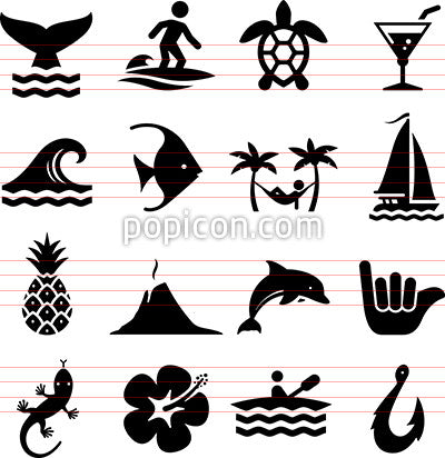 Hawaiian Icons