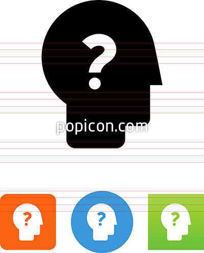 Head With Question Mark Icon
