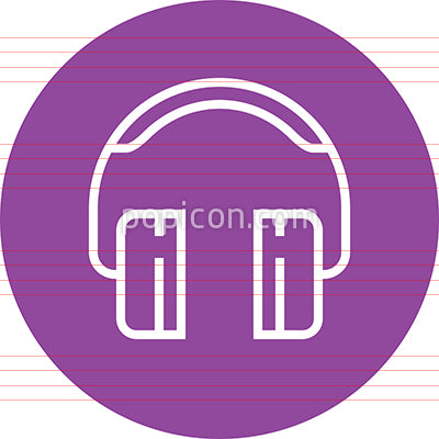 Headphones Electronics Music Outline Icon