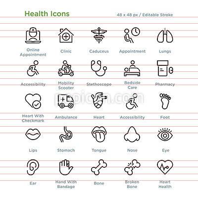 Health Icons - Outline