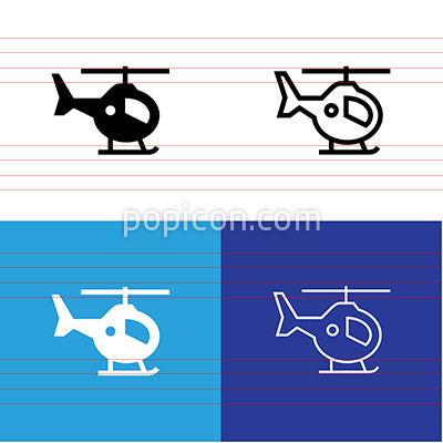Helicopter Icon Set
