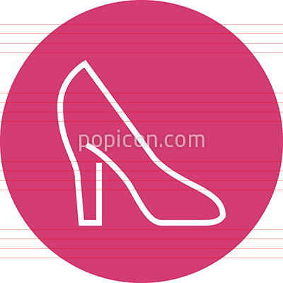 High Heeled Shoe Outline Icon