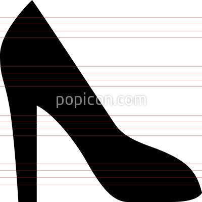 High Heeled Shoe Vector Icon