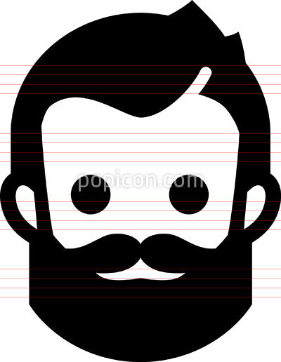 Hipster With Beard Icon