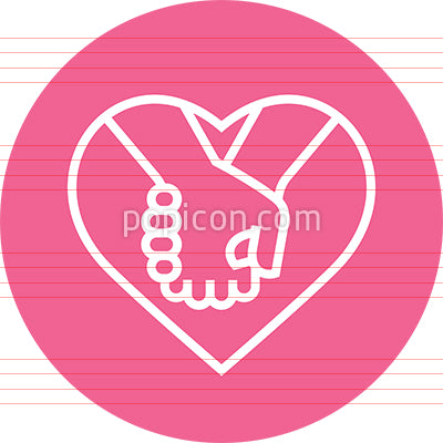 Holding Hands Relationship Outline Icon