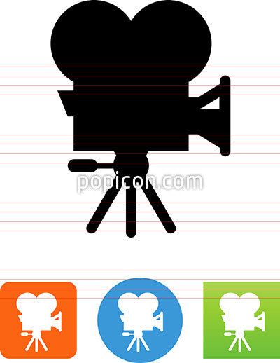 Hollywood Movie Camera Icon