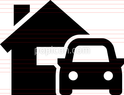 Home And Auto Vector Icon
