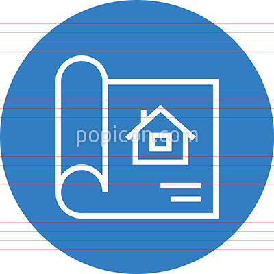 Home Blueprint Plan Outline Icon