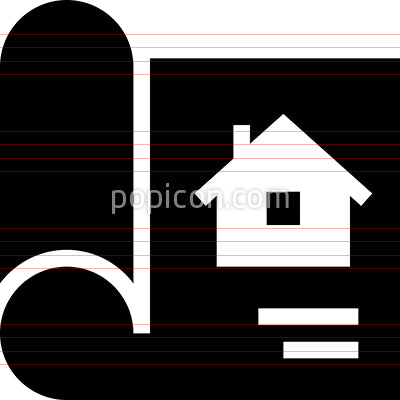 Home Blueprint Plan Vector Icon