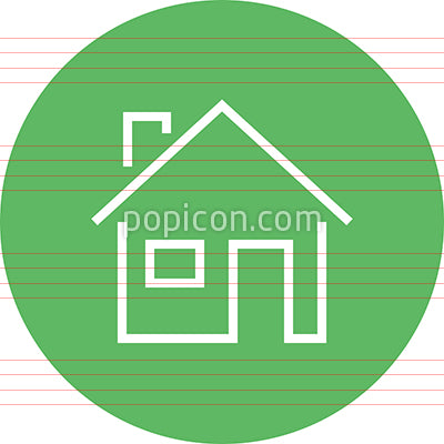 Home Family Residence Outline Icon