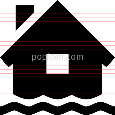 Home Flood Vector Icon