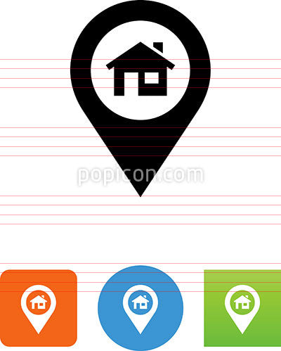 Home On Pin Icon