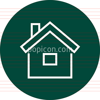 Home Real Estate Property Outline Icon
