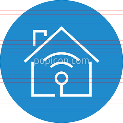 Home WiFi Network Access Point Outline Icon