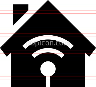 Home WiFi Network Access Point Vector Icon