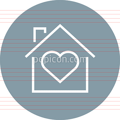 Home With Heart Outline Icon