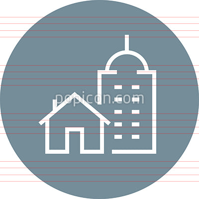 Home Work Buildings Outline Icon