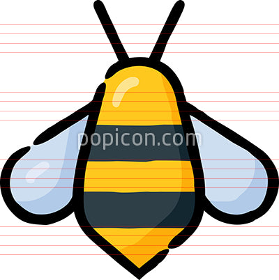 Honey Bee Insect Hand Drawn Icon