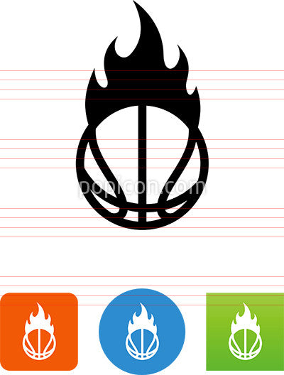 Hoops On Fire Icon