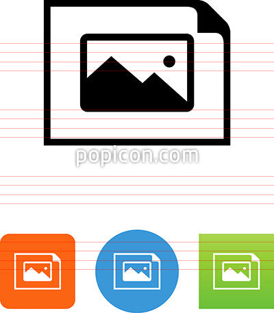 Horizontal Document With Landscape Icon