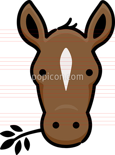 Horse Head Hand Drawn Icon