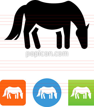 Horse Grazing Icon