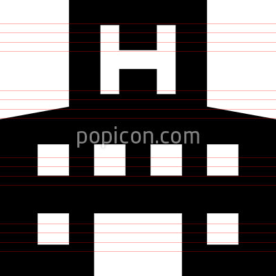 Hospital Building Vector Icon