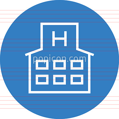 Hospital Clinic Building Outline Icon