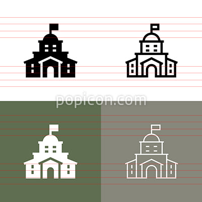 Hotel Resort Icon Set