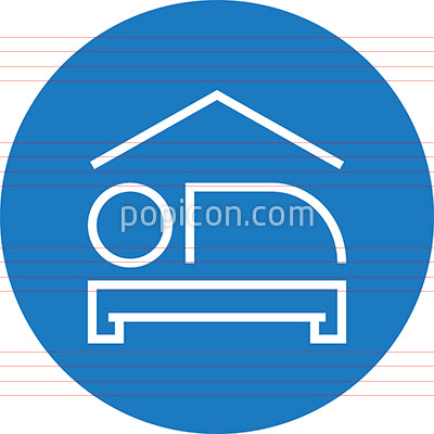 Hotel Room Lodging Outline Icon