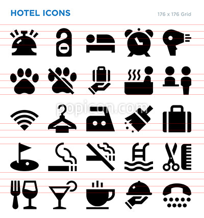 Hotel Vector Icon Set