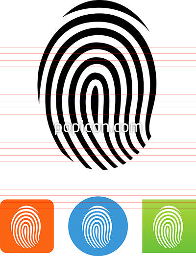 Human Fingerprint Icon