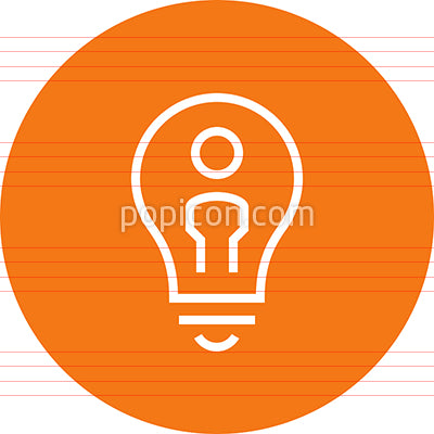 Idea Innovate Brainstorm Outline Icon